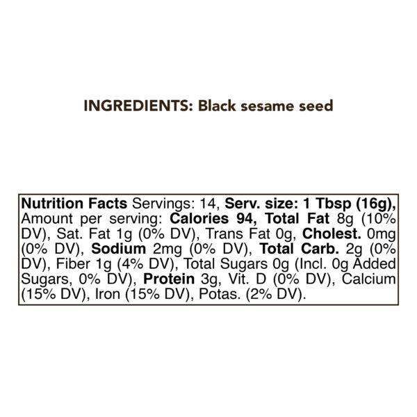 Black Sesame Seed Butter 1 kg Urbech 1