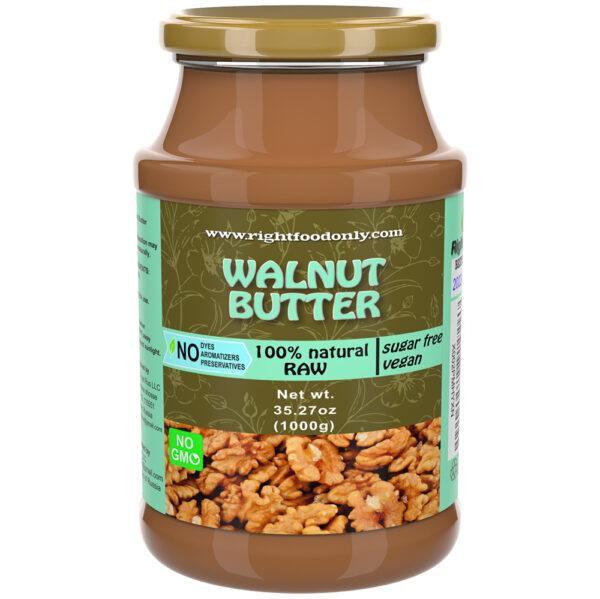 Walnut Butter 1kg | Cold Pressed Raw | No Added Sugar | One Ingredient | Vegan | 100% Superfood