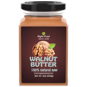 Walnut Butter 8oz | Cold Pressed Raw | No Added Sugar | One Ingredient | Vegan | 100% Superfood