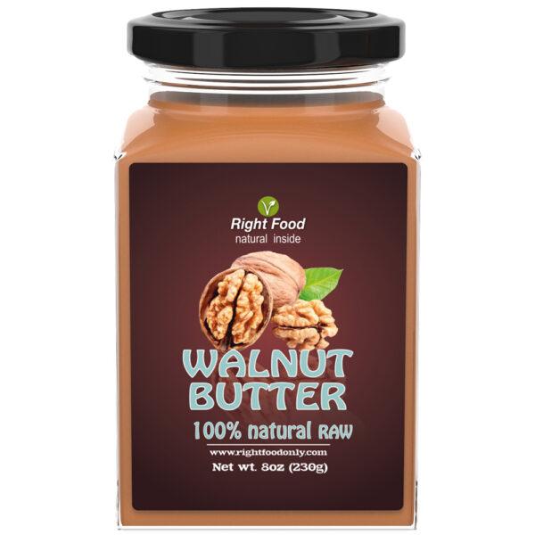 Walnut Butter 8oz   Cold Pressed Raw   No Added Sugar   One Ingredient   Vegan   100% Superfood
