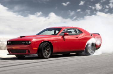 Red Challenger SRT Hellcat Burnout