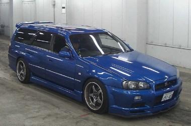 Blue R34 Skyline GTR Wagon