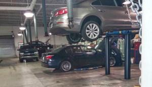 BMW 535i in Service Bay
