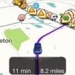 Waze map display