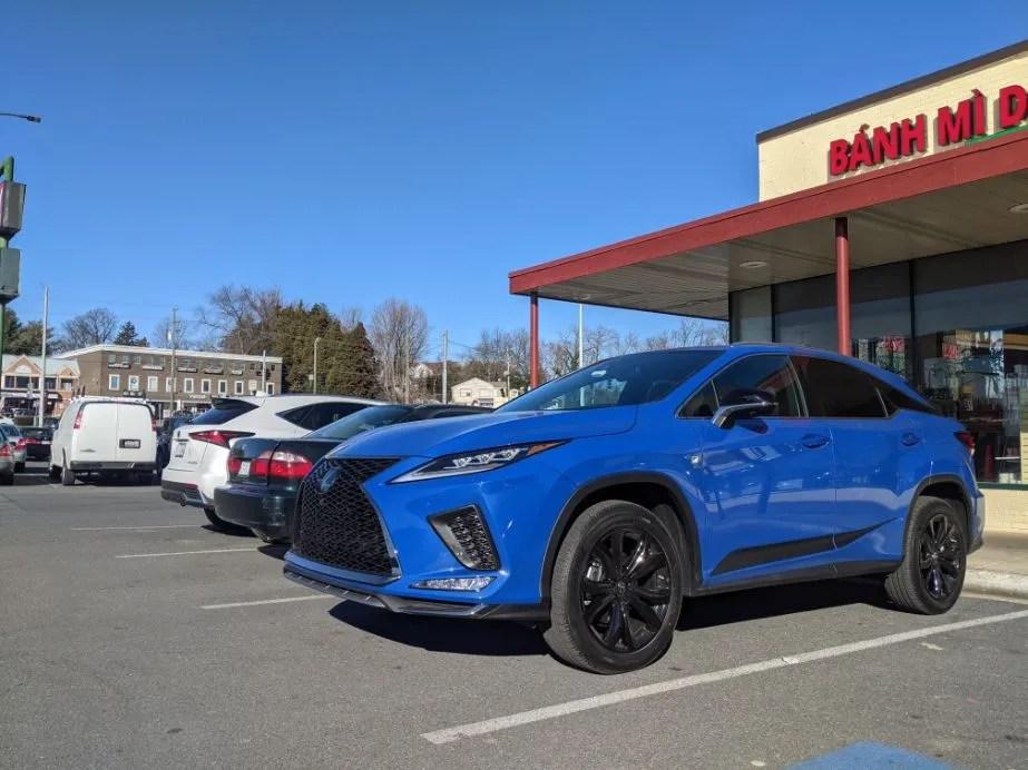 Glacier Blue RX 350 F Sport Black Special Edition