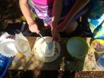 mixing in a coffee filter