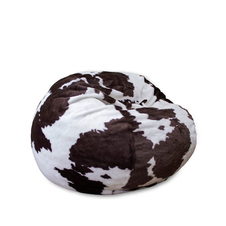 Full Cordaroy S Faux Cow Fur Sleeper Bean Bag Right