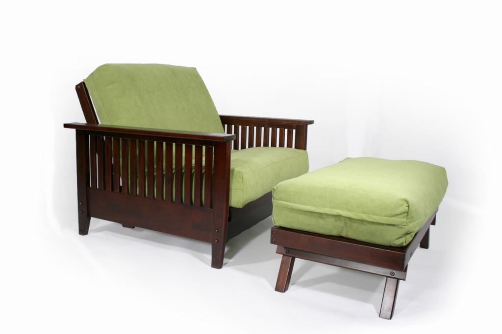 Denali Twin Chair Amp Ottoman Wall Hugger Futon Frame Right Futons Amp Waterbeds