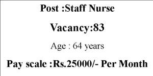 Staff Nurse Jobs with 25,000 Monthly Salary