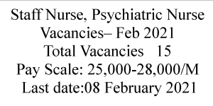 Staff Nurses Psychiatric Nurses Recruitment