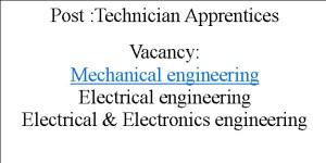 Technician Apprentices Jobs in MPPGCL