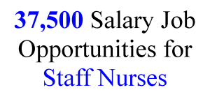 Staff Nurse job Opportunities with 37500 Salary