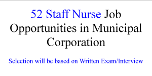 52 Staff Nurse Job Opportunities