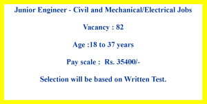 Electrical Civil and Mechanical Job Opportunities