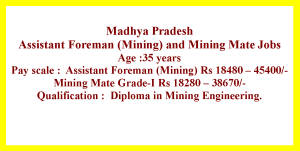 Job Opportunities for Diploma in Mining Engineering candidates