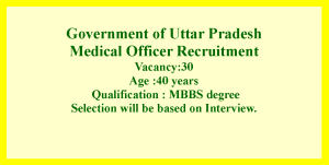 Medical Officer Job Opportunities in UP