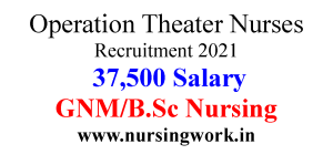 Operation Theater Nurse job opportunities with 37500 Salary in delhi