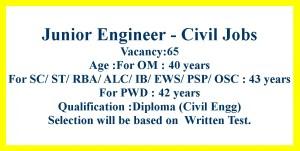 Civil Engineering Diploma BE Jobs in JK