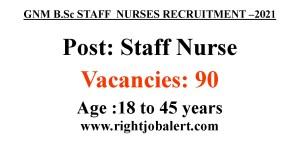 Staff Nurse Job opportunities- 90 Vacancies