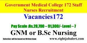 MadhyaPradesh Staff Nurse jobs-172 Vacancies