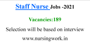 189 Staff Nurse Job opportunities- May 2021
