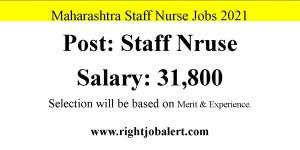 Maharashtra Staff Nurse Jobs- 56 Vacancies