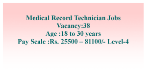 Medical Record Technician Job Opportunities in AIIMS