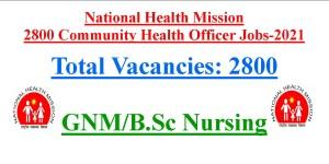 2800 Community Health Officer Jobs- July 2021
