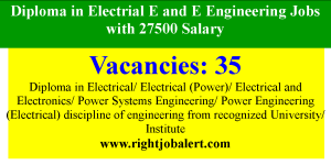 Diploma in Electrial E and E Engineering Jobs with 27500 Salary
