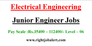 Junior Electrical Engineer Jobs with 35400-112400 Pay Scale