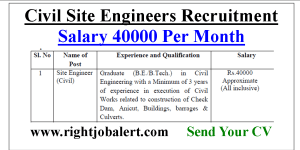 Civil Site Engineer Jobs with 40000 Salary