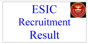 ESIC Teaching Faculty Examination Result