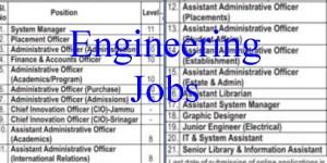 IIM Jammu Engineering and other Vacancies