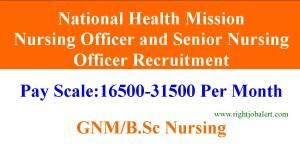 National Health Mission 31500 Salary Nursing Officer Jobs