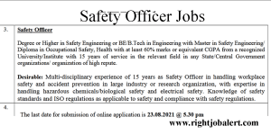 Safety Officer Jobs - Level 11 Pay Scale