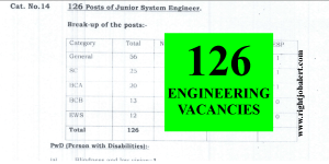 126 Engineers Recruitment Last date Extended till 09-09-2021