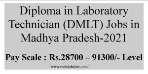 Diploma in Laboratory Technician (DMLT) Jobs in Madhya Pradesh