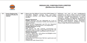 14 Fire and Safety Engineering Assistant Jobs in Indian Oil Corporation