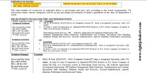 BE BTech MCA MSc Job Vacancies- Level 10 Pay