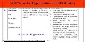 Haryana State Staff Nurse Vacancies 31500 Salary