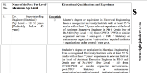 Electrical Engineering BE BTech or ME MTech Jobs