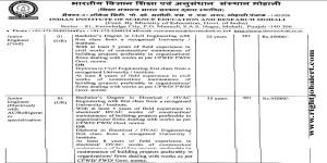IISER Electrical and Civil Junior Engineer Jobs-45K Salary