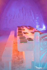 Inside Lainio Snow Village