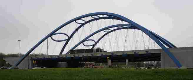 Kwame's and Bobbie's 'Bridge of Bucks' over Telegraph Road