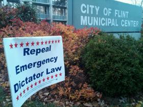 Flint Emergency Manager Protest Image