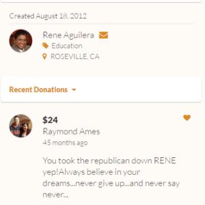 Aguilera - you took the Republican Down