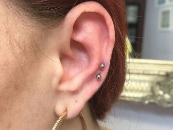 auricle double piercing