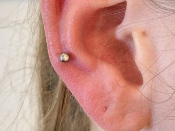auricle piercing pics