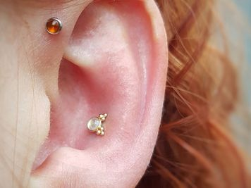 conch diamond jewelry