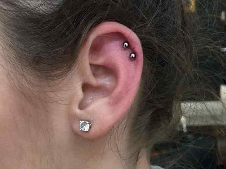 double helix piercing images
